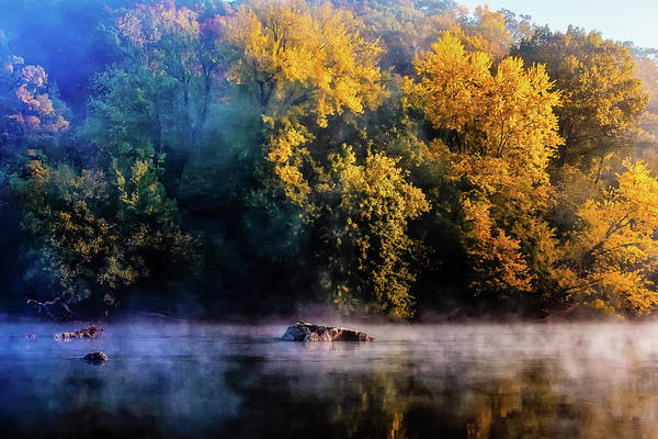 Monocacy Wall Art - Photograph - Hazy October Day by Bruce Saunders