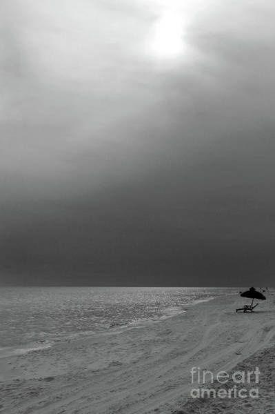 Photograph - Hazy Shade Of Summer Black And White by Karen Adams
