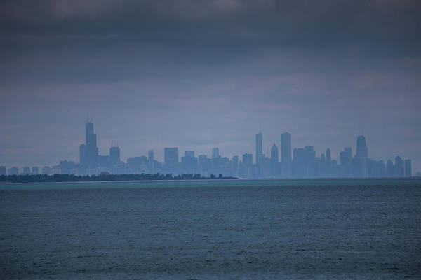 Photograph - Hazy Summer Chicago Skyline by Sue Conwell