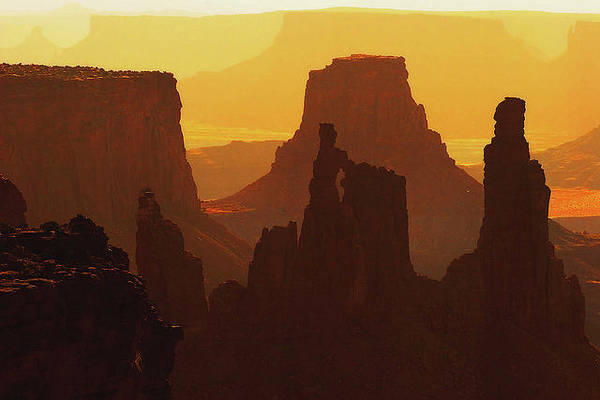 Wall Art - Photograph - Hazy Sunrise Over Canyonlands, Utah by Douglas Pulsipher