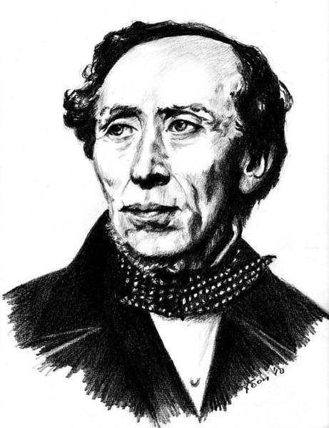 Drawing - H.c. Andersen by Toon De Zwart