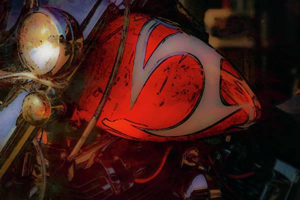 Photograph - Hd Orange Glow Digital Painting 5837 Dp_2 by Steven Ward