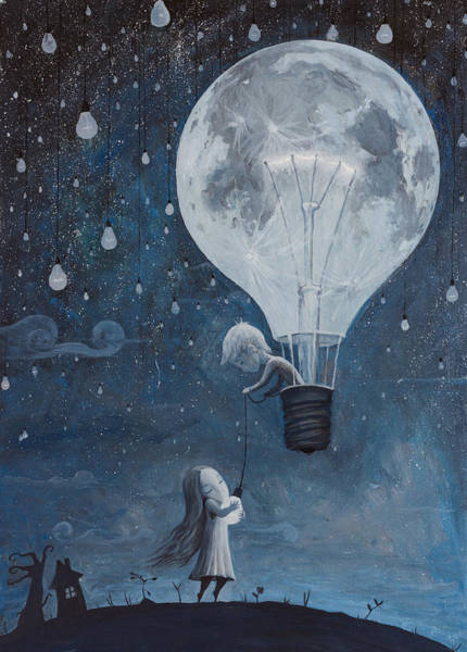 Pure Love Wall Art - Painting - He Gave Me The Brightest Star by Adrian Borda