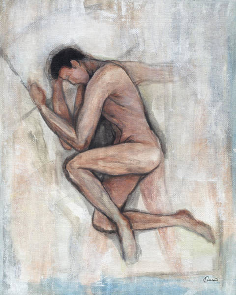 Gentle Man Wall Art - Painting - He by Kathleen Wong
