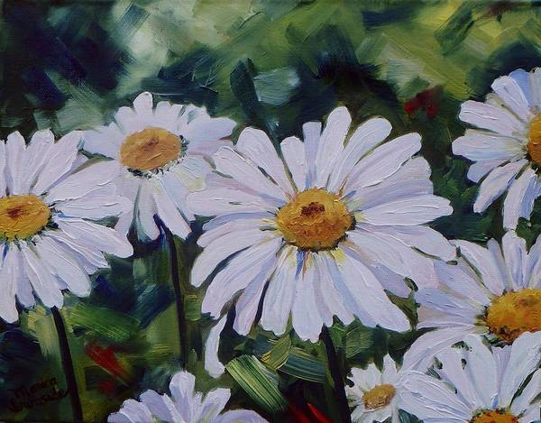 Painting - He Loves Me, He Loves Me Not by Monica Ironside