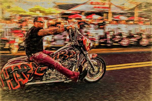 Daytona Bike Week Wall Art - Photograph - He Rides by Alice Gipson