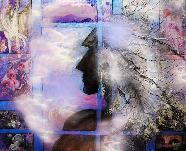 Shaman Digital Art - He Waits II by Patricia Motley