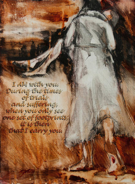 Painting - I Am With You - Footprints by Jani Freimann