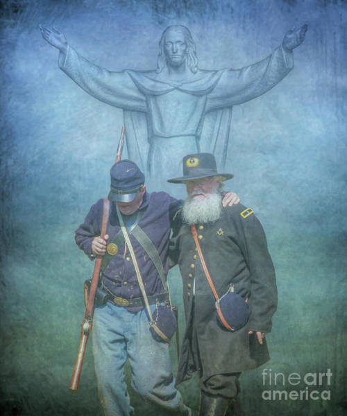 Us Civil War Digital Art - He Watches Over Us by Randy Steele