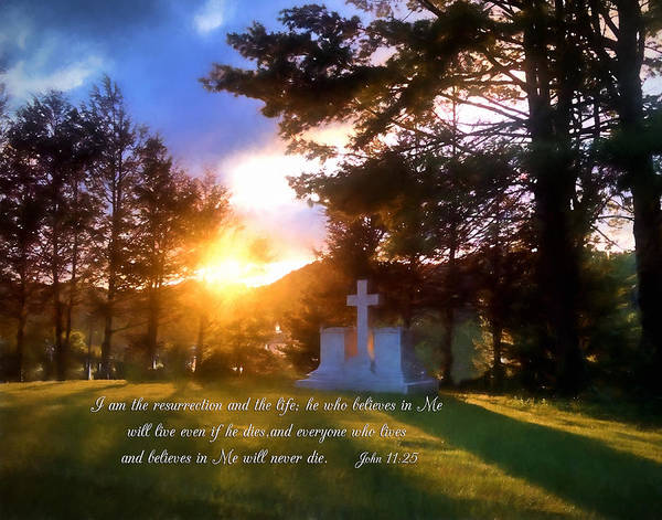 Photograph - He Who Believes Will Never Die by Denise Beverly