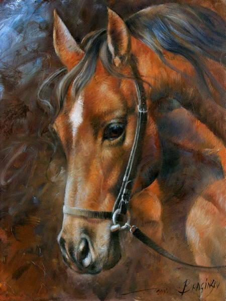 Horse Head Wall Art - Painting - Head Horse by Arthur Braginsky