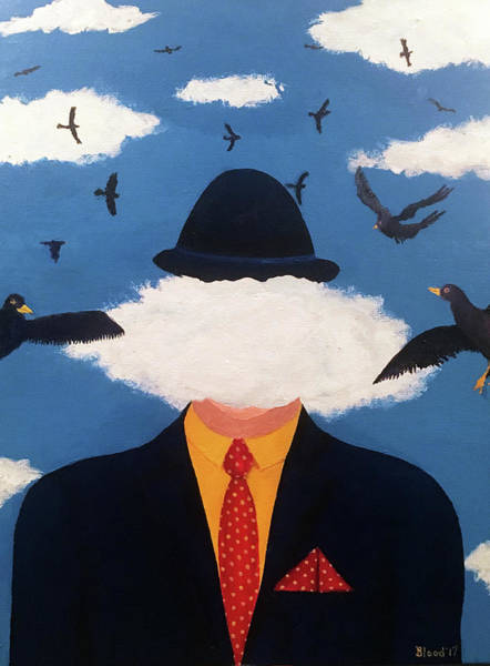 Head In The Cloud Art Print