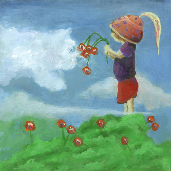 Wall Art - Painting - Head In The Clouds by Robin Wiesneth