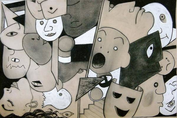 Imagination Drawing - Head Jam by Joanne Claxton