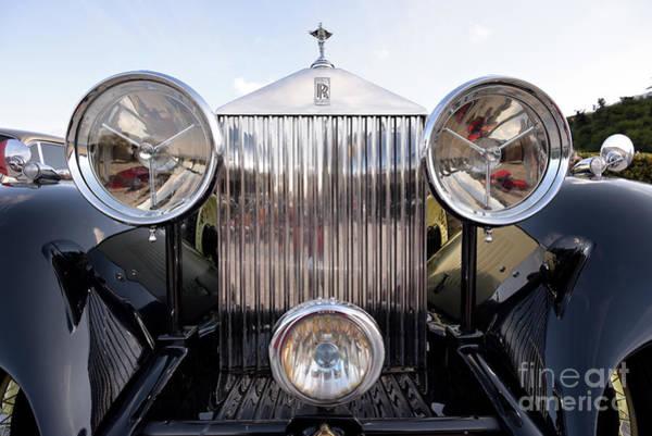 Rolls Royce Hood Ornament Photograph - Head Lights Of 1934 Rolls Royce 20/25 by George Atsametakis
