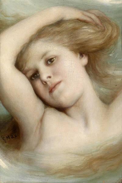 Gabriel Painting - Head Of A Dreaming Girl by Gabriel von Max
