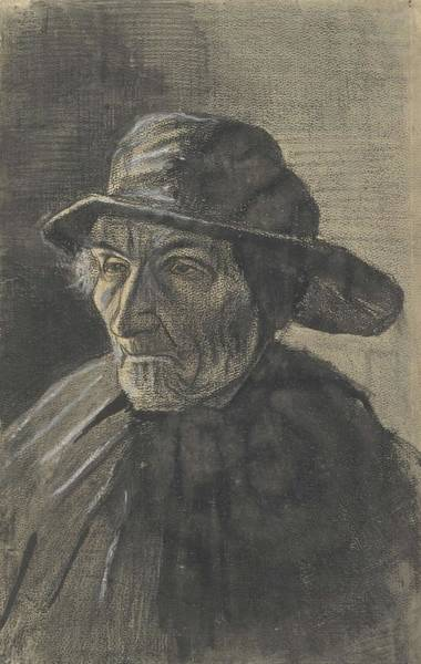 Painting - Head Of A Fisherman With A Sou Wester The Hague January 1883 Vincent Van Gogh 1853  1890 by Artistic Panda