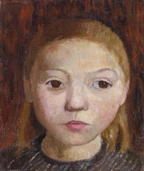 Paula Wall Art - Painting - Head Of A Girl by Paula Modersohn-Becker
