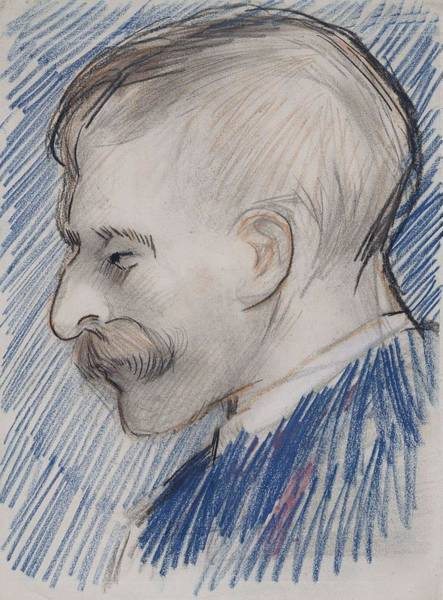 Painting - Head Of A Man Possibly Theo Van Gogh Paris, January - April 1887 Vincent Van Gogh 1853  1890 by Artistic Panda