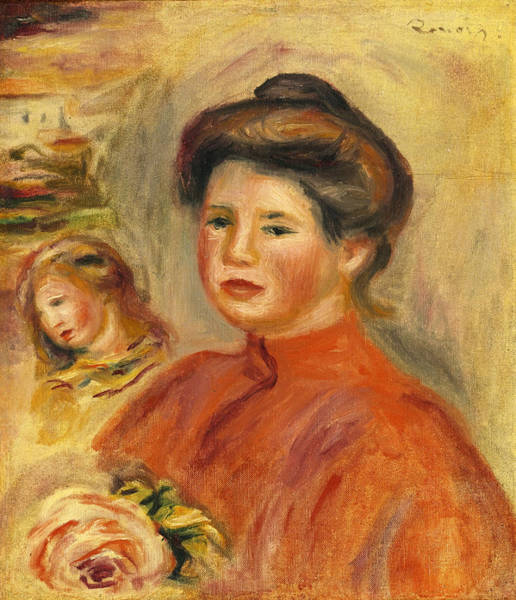 Painting - Head Of A Woman. Gabrielle by Pierre-Auguste Renoir