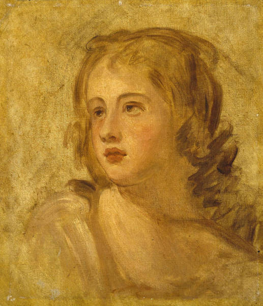 Romney Painting - Head Of A Woman by George Romney