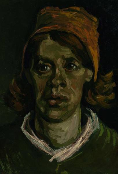 Painting - Head Of A Woman Nuenen, April 1885 Vincent Van Gogh 1853  1890 by Artistic Panda