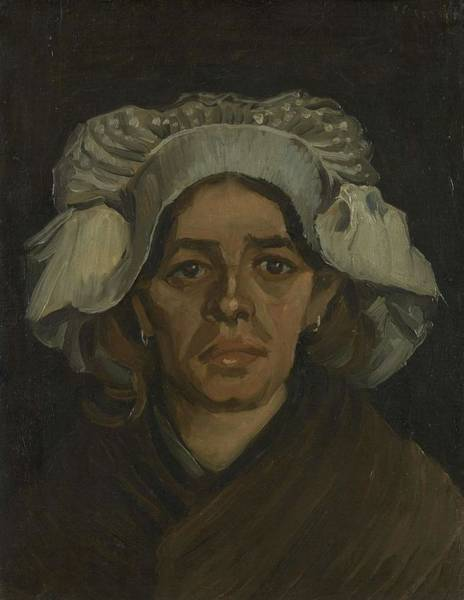 Painting - Head Of A Woman Nuenen March 1885 Vincent Van Gogh 1853  1890  by Artistic Panda