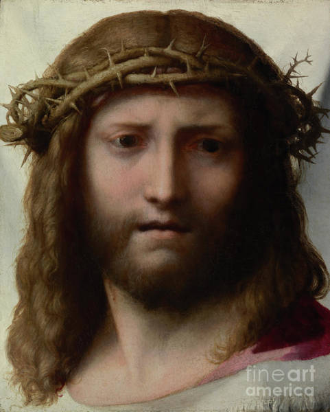 Dali Painting - Head Of Christ By Correggio by Esoterica Art Agency