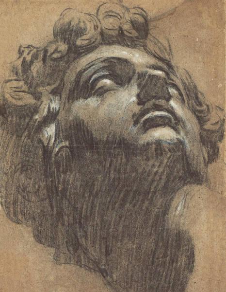 Drawing - Head Of Giuliano De' Medici by Tintoretto