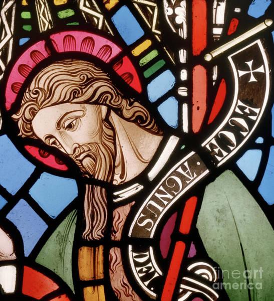 Wall Art - Glass Art - Head Of John The Baptist by John Richard Clayton