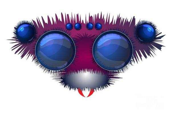 Wall Art - Digital Art - Head Of The Big Hairy Spider by Michal Boubin