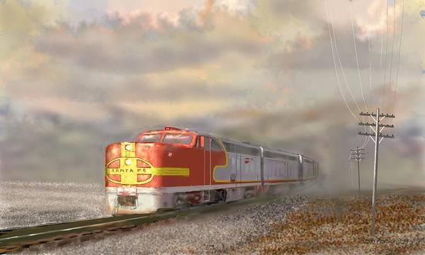 Digital Art - Heading East by Brandy Beverly