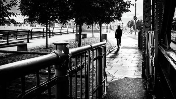 Faceless Photograph - Heading Home - Dublin, Ireland - Black And White Street Photography by Giuseppe Milo