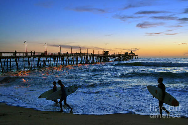 Photograph - Heading Home - Imperial Beach Pier Beach Sunset by Sam Antonio Photography