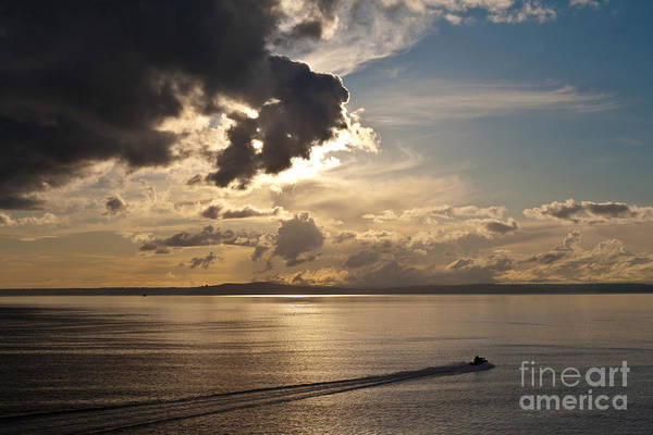 Puget Sound Photograph - Heading Out On Sunset Patrol by Mike Reid