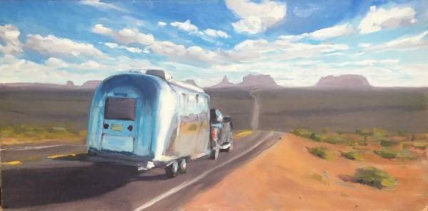 Heading South Towards Monument Valley Art Print