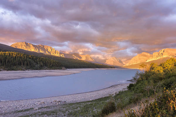 Photograph - Heading To Many Glacier Just After Sunrise by Belinda Greb