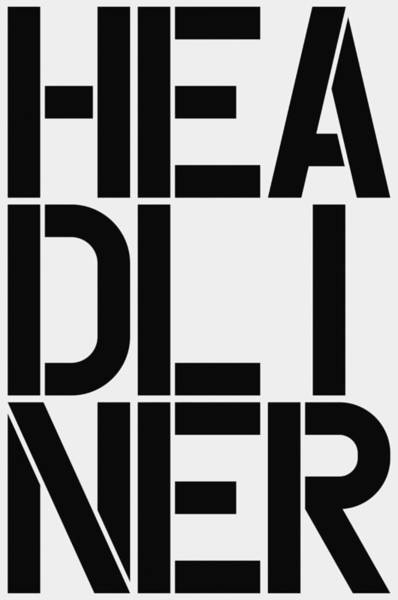 Wall Art - Painting - Headliner by Three Dots