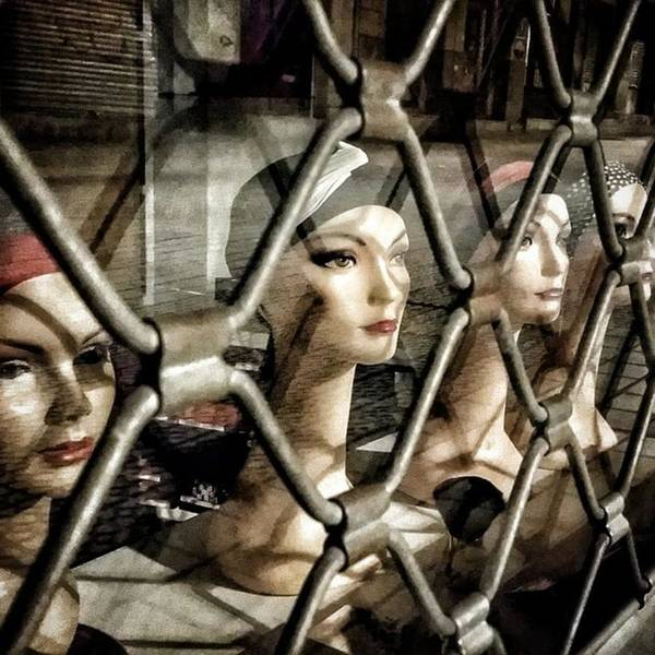 Shop Wall Art - Photograph - Heads' Cage #shop #manequin #window by Rafa Rivas