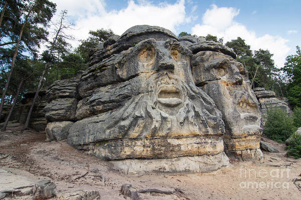 Wall Art - Photograph - Heads Of Devils - Rock Sculptures by Michal Boubin