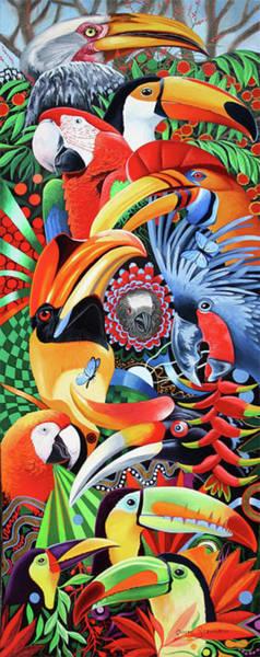 Hornbill Painting - Heads Up by Graeme Stevenson