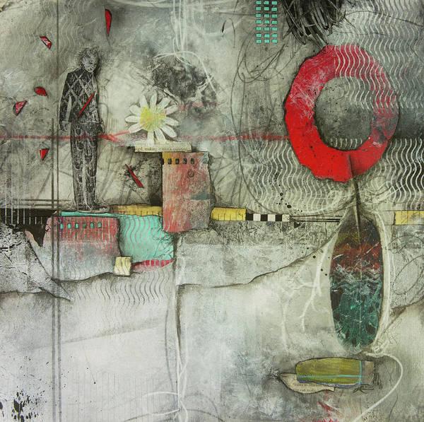 Abstract Flower Mixed Media - Healing Circle Of Spirit  by Laura Lein-Svencner