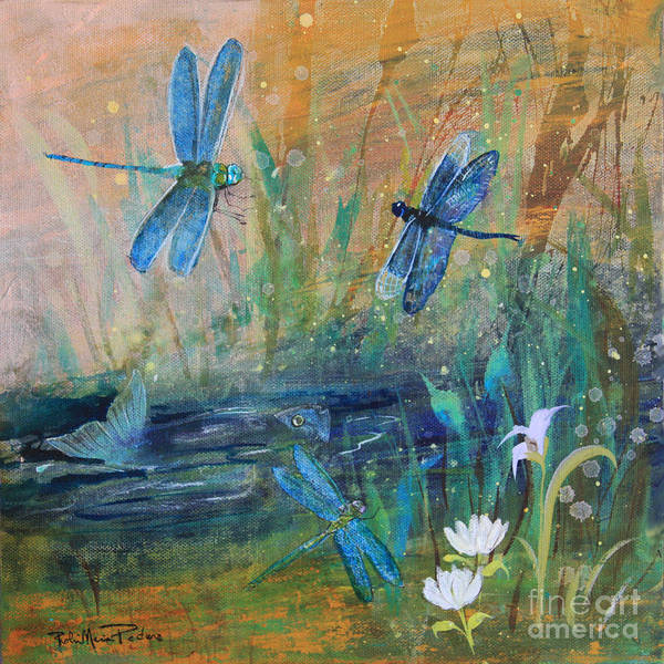 Painting - Healing Dragonflies by Robin Maria Pedrero