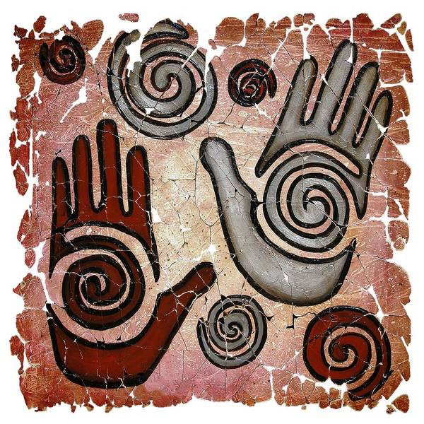 Painting - Healing Hands Fresco by OLena Art Brand