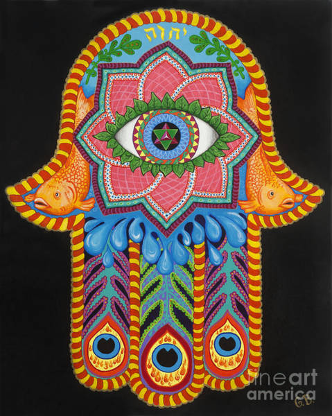 Hamsa Wall Art - Painting - Healing Power by Galina Bachmanova