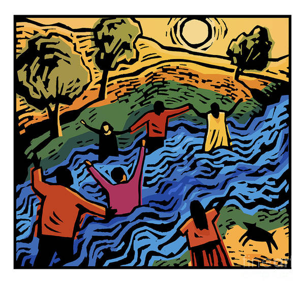 Painting - Healing River - Jlher by Julie Lonneman