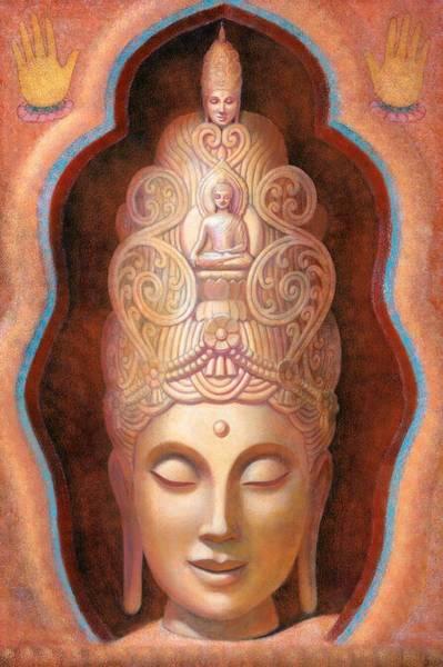 Goddess Wall Art - Painting - Healing Tara by Sue Halstenberg