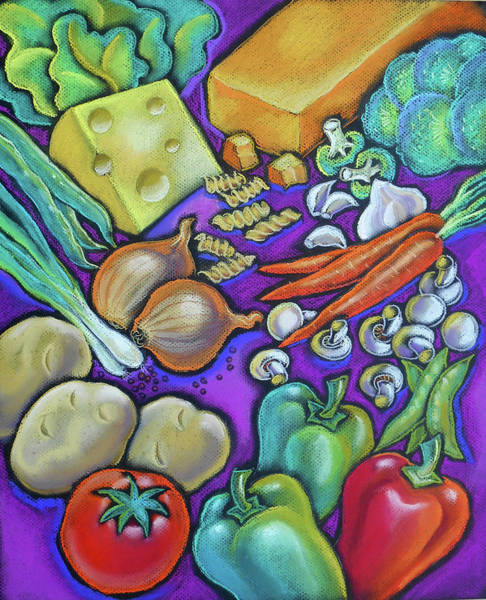 Developed Wall Art - Painting - Health Food For You by Leon Zernitsky