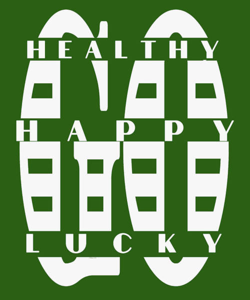 Digital Art - Healthy Go Happy Go Lucky by OLena Art Brand