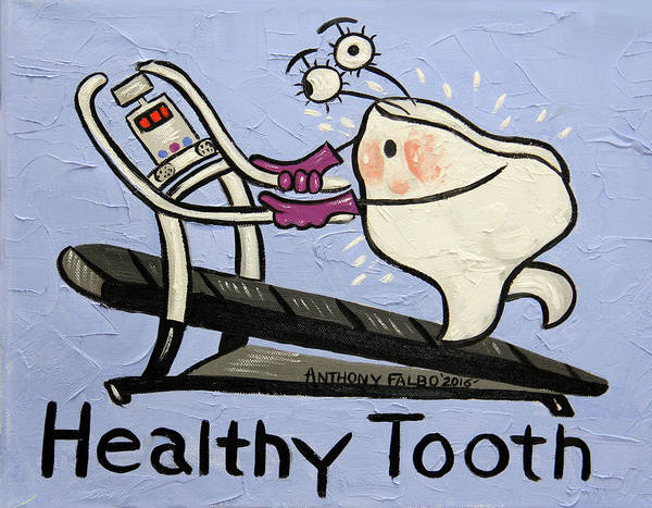 Painting - Healthy Tooth by Anthony Falbo